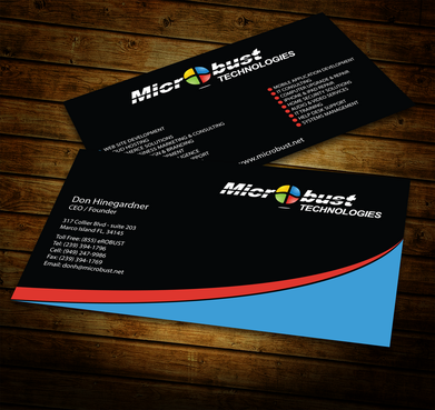 Microbust Technologies Business Cards and Stationery  Draft # 153 by jpgart92