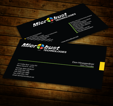 Microbust Technologies Business Cards and Stationery  Draft # 154 by jpgart92