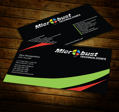 Microbust Technologies Business Cards and Stationery  Draft # 155 by jpgart92