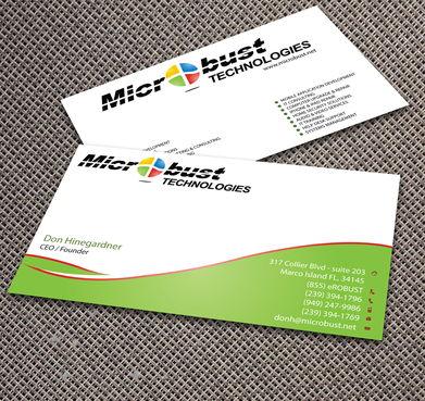Microbust Technologies Business Cards and Stationery  Draft # 157 by jpgart92