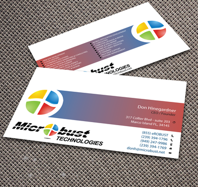 Microbust Technologies Business Cards and Stationery  Draft # 158 by jpgart92