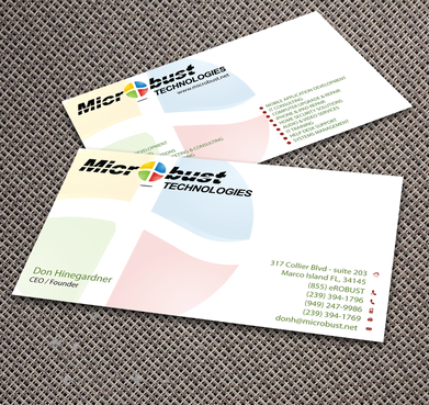 Microbust Technologies Business Cards and Stationery  Draft # 159 by jpgart92