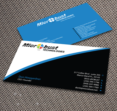 Microbust Technologies Business Cards and Stationery  Draft # 160 by jpgart92