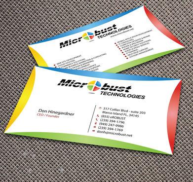 Microbust Technologies Business Cards and Stationery  Draft # 163 by jpgart92