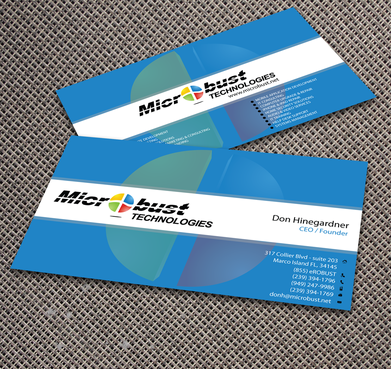 Microbust Technologies Business Cards and Stationery  Draft # 165 by jpgart92