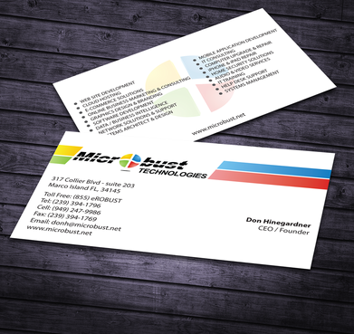 Microbust Technologies Business Cards and Stationery  Draft # 166 by jpgart92