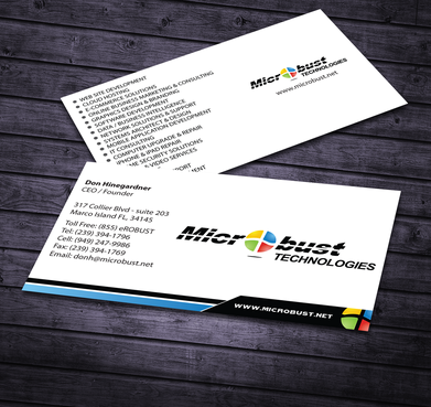 Microbust Technologies Business Cards and Stationery  Draft # 167 by jpgart92