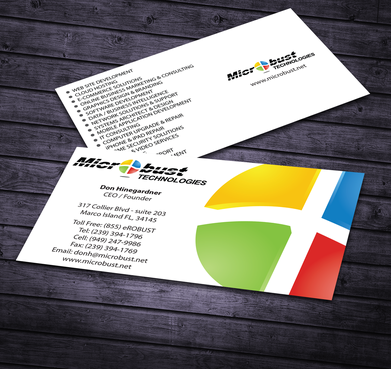 Microbust Technologies Business Cards and Stationery  Draft # 168 by jpgart92