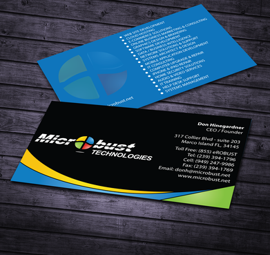 Microbust Technologies Business Cards and Stationery  Draft # 170 by jpgart92