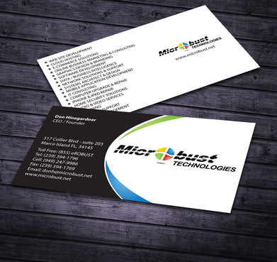 Microbust Technologies Business Cards and Stationery  Draft # 171 by jpgart92