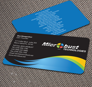 Microbust Technologies Business Cards and Stationery  Draft # 172 by jpgart92