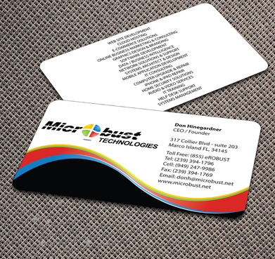 Microbust Technologies Business Cards and Stationery  Draft # 173 by jpgart92