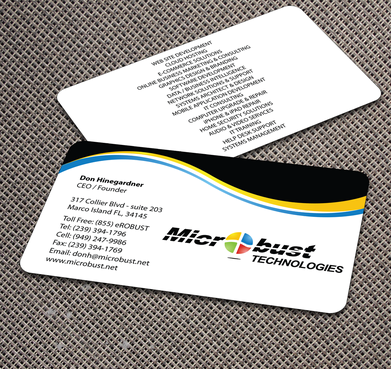 Microbust Technologies Business Cards and Stationery  Draft # 174 by jpgart92