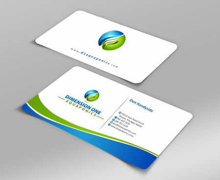 Dimension One Aquaponics Business Cards and Stationery  Draft # 151 by Deck86