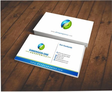 Dimension One Aquaponics Business Cards and Stationery  Draft # 156 by Deck86