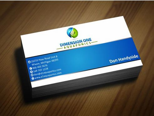 Dimension One Aquaponics Business Cards and Stationery  Draft # 186 by Deck86