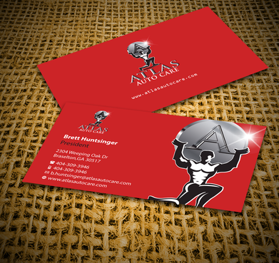 Atlas Auto Care Business Cards and Stationery  Draft # 161 by jpgart92