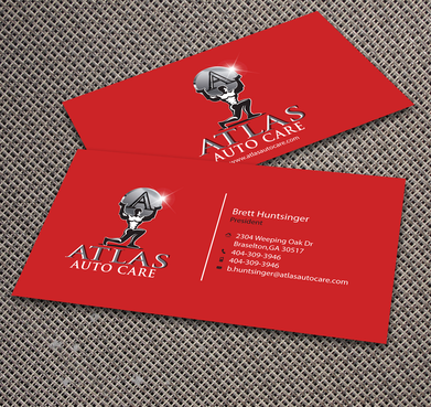 Atlas Auto Care Business Cards and Stationery  Draft # 179 by jpgart92
