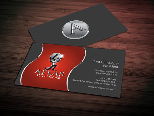 Atlas Auto Care Business Cards and Stationery Winning Design by jpgart92