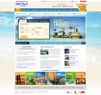 Hotel reservations and flght bookings Web Design  Draft # 9 by timefortheweb