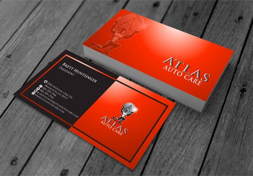 Atlas Auto Care Business Cards and Stationery  Draft # 218 by xtremecreative3