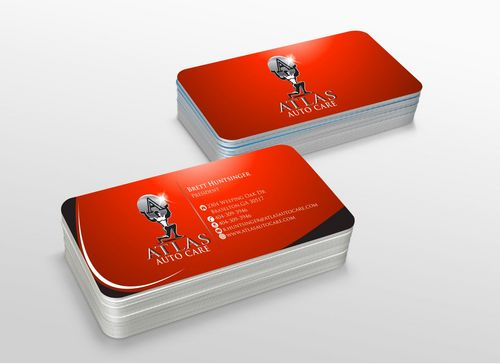Atlas Auto Care Business Cards and Stationery  Draft # 227 by xtremecreative3