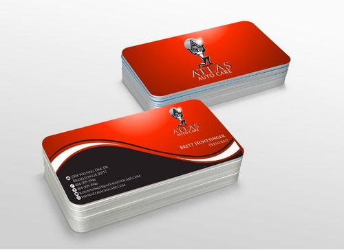 Atlas Auto Care Business Cards and Stationery  Draft # 230 by xtremecreative3