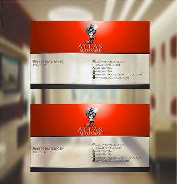 Atlas Auto Care Business Cards and Stationery  Draft # 237 by xtremecreative3
