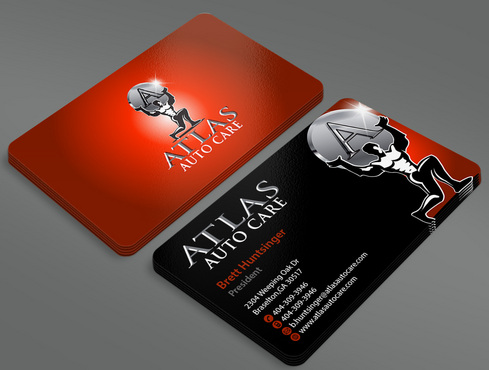 Atlas Auto Care Business Cards and Stationery  Draft # 238 by ArtworksKingdom