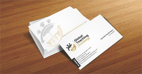 Global Teaching Exchange Business Cards and Stationery  Draft # 227 by Deck86