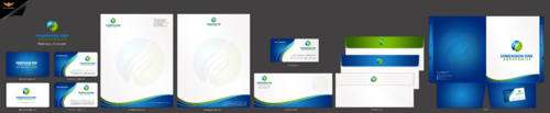 Dimension One Aquaponics Business Cards and Stationery Winning Design by einsanimation