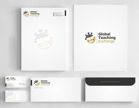 Global Teaching Exchange Business Cards and Stationery Winning Design by Deck86