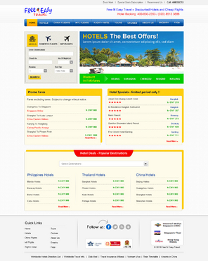 Hotel reservations and flght bookings Web Design Winning Design by jogdesigner