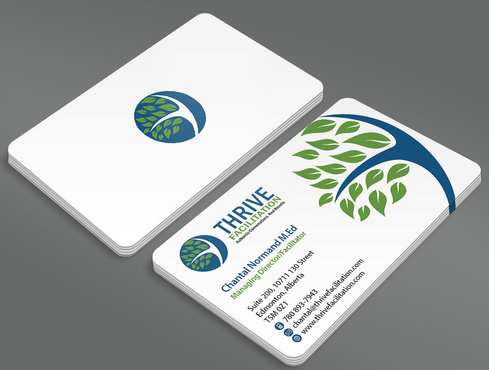 THRIVE FACILITATION Business Cards and Stationery  Draft # 43 by ArtworksKingdom