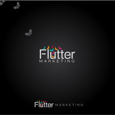 Flutter Marketing Logo Winning Design by Logoziner