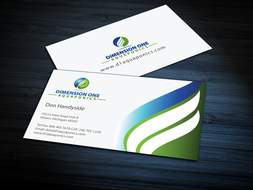 Dimension One Aquaponics Business Cards and Stationery  Draft # 303 by jpgart92