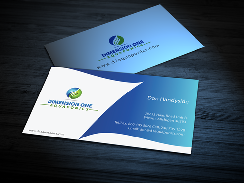 Dimension One Aquaponics Business Cards and Stationery  Draft # 305 by jpgart92