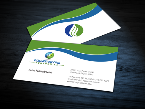 Dimension One Aquaponics Business Cards and Stationery  Draft # 306 by jpgart92