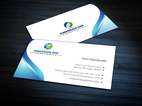 Dimension One Aquaponics Business Cards and Stationery  Draft # 307 by jpgart92