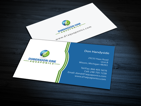 Dimension One Aquaponics Business Cards and Stationery  Draft # 308 by jpgart92