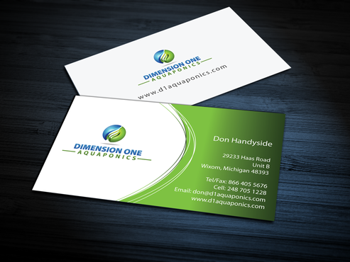 Dimension One Aquaponics Business Cards and Stationery  Draft # 309 by jpgart92
