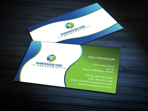 Dimension One Aquaponics Business Cards and Stationery  Draft # 310 by jpgart92