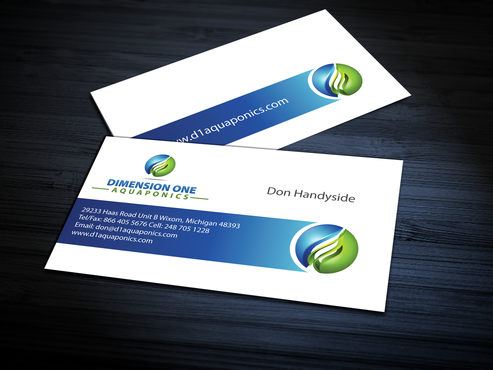 Dimension One Aquaponics Business Cards and Stationery  Draft # 311 by jpgart92