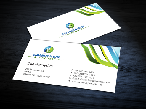 Dimension One Aquaponics Business Cards and Stationery  Draft # 313 by jpgart92