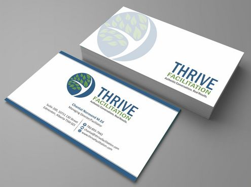 THRIVE FACILITATION Business Cards and Stationery  Draft # 150 by Deck86