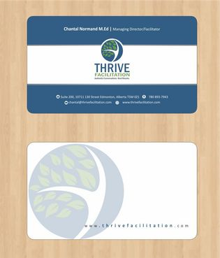 THRIVE FACILITATION Business Cards and Stationery  Draft # 157 by Deck86