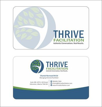 THRIVE FACILITATION Business Cards and Stationery  Draft # 200 by Deck86