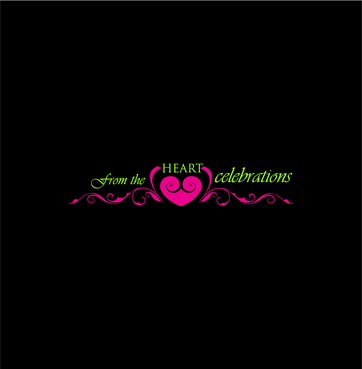 From the heart celebrations A Logo, Monogram, or Icon  Draft # 9 by InventiveStylus
