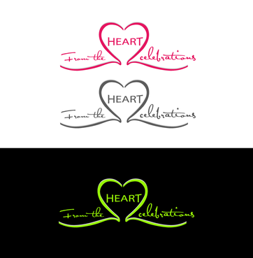From the heart celebrations A Logo, Monogram, or Icon  Draft # 10 by InventiveStylus