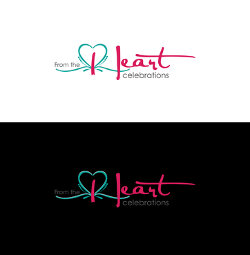 From the heart celebrations A Logo, Monogram, or Icon  Draft # 22 by InventiveStylus